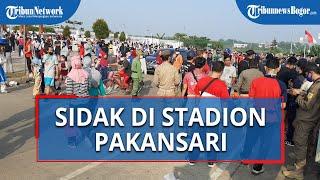 Satpol PP Sidak Warga yang Berolahraga di Kawasan Stadion Pakansari Cibinong