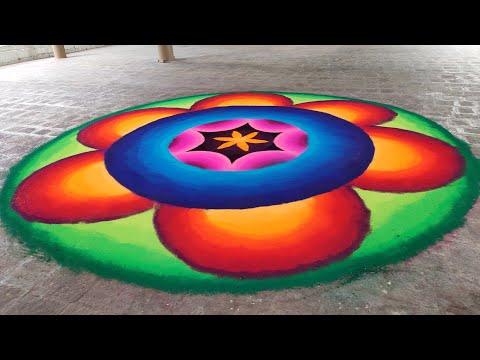 3d colorful rangoli design for ganesh chathurthi by ganesh vedpathak