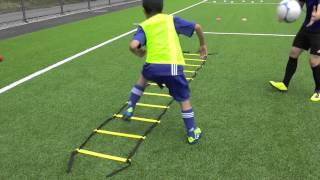 Schnelligkeitstraining mit Leiter und Ball