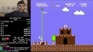 (4:56.878) Super Mario Bros. any% speedrun *Former World Record*