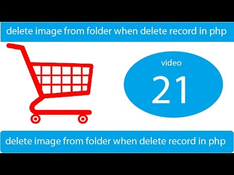 delete image from folder when delete record in php