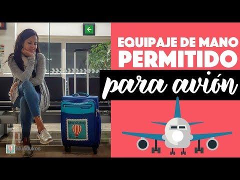 ¿Qué se considera equipaje de mano en un avión?
