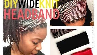 DIY Wide Knit Headband