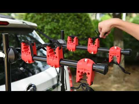 Z033 Blueshyhall 3-Bike Rack for Car Trunk Mount Rack Bicycle Carrier Rack