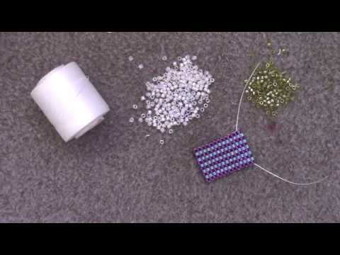 Learn the Basics of the Brick Stitch - A Beginner Beading Tutorial by Aura Crystals