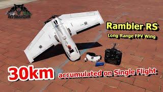 18 miles FPV Flight Rambler RS Long Range FPV Wing