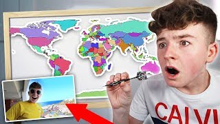 Throwing a Dart at a Map and FLYING Wherever it Lands… (SPENDING THE NIGHT in a DIFFERENT COUNTRY!)
