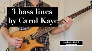 3 bass lines by Carol Kaye