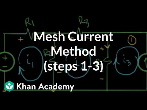Mesh current steps 1 to 3
