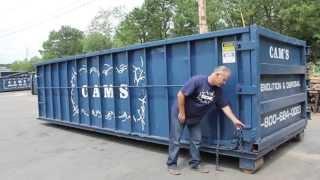How to Open a Dumpster Door - Cam's Dumpster New Hampshire