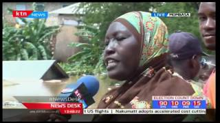 Mombasa residents call on the Government to help them with the floods brought by heavy rains