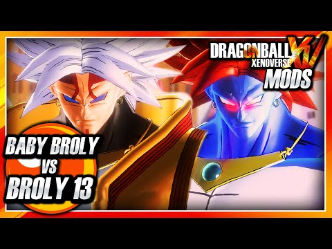 Download Dragon Ball Xenoverse PC: Baby Broly Vs Super Broly 13 (Baby & Android 13 Fusion) Mod Gameplay HD Mp4 3GP Video and MP3