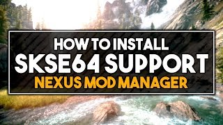 Skyrim SE - How to Get SKSE 64 Support for Nexus Mod Manager! + ESL Plugins