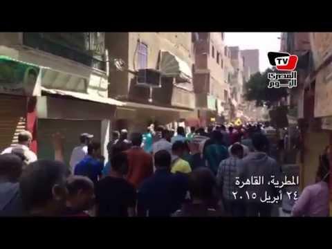 تظاهر أنصار الإخوان بالمطرية