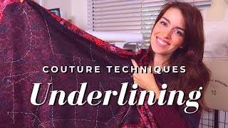 Ep. 3: Underlining The Fashion Fabric - DIY Couture Cocktail Dress