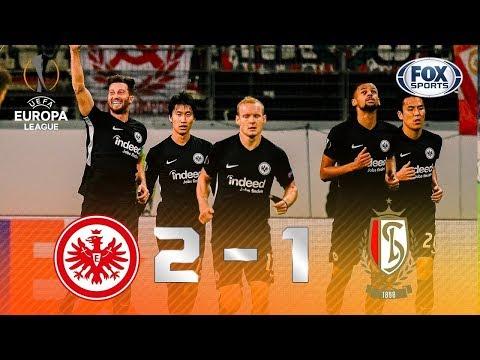 VITÓRIA SUADA! Veja os melhores momentos de Frankfurt 2 x 1 St. Liege pela Europa League