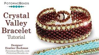 Crystal Valley Bracelet- DIY Jewelry Making Tutorial By PotomacBeads