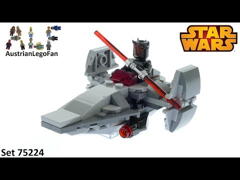 Vidéo LEGO Star Wars 75224 : Microvaisseau Sith Infiltrator