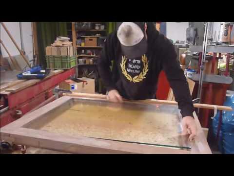 Anleitung rustikaler Esstisch mit Glas (Smartphoneversion)