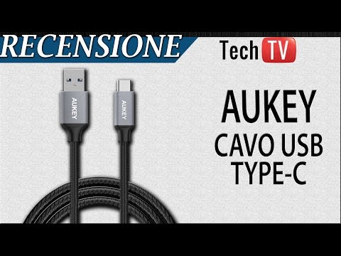 Recensione Cavo USB 3.0 Type C in Nylon Aukey