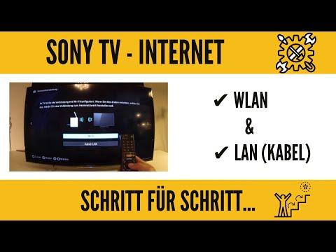 Sony Smart TV Internet Einrichtung. Wlan fähig machen. GANZ EINFACH!!!