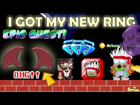 MY NEW RINGS FOR EPIC QUESTS (SPONSOR) ITEM!! OMG!! | GrowTopia