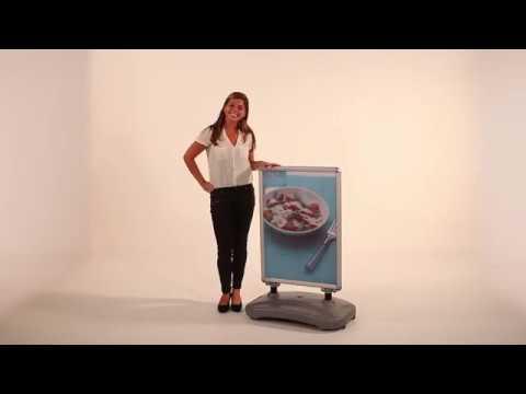 Kundenstopper DIN A1 mit Kunststoff Fuß als Wassertank