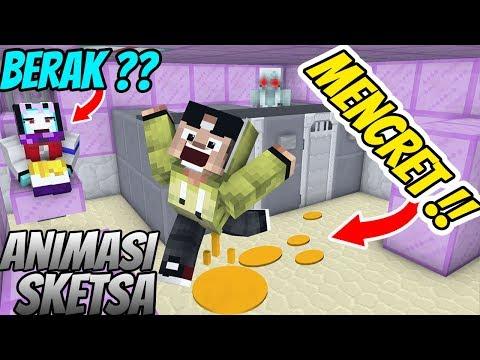 Lucu! Erpan Berak liat hantu di toilet ( Animasi Minecraft Indonesia )