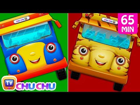 Download Wheels On The Bus Farm Animals, Wild Animals, London, New York & Lots More Nursery Rhymes | ChuChuTV HD Video