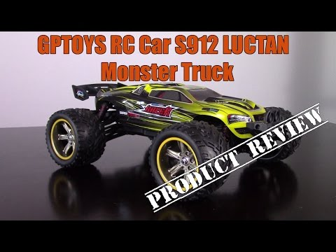 Review: GPTOYS RC Cars S912 LUCTAN 33MPH 1/12 Scale Electric Monster Truck