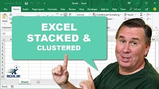 Stacked & Clustered - 1091 - Learn Excel Podcast