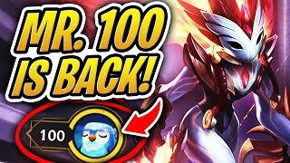 MR. 100 IS BACK W ANOTHER PERFECT TFT GAME!   Teamfight Tactics   League Of Legends Auto Chess