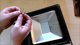 VINGO LED Fluter Strahler 50W, kaltweiss 6000K, 4000lm, IP65,