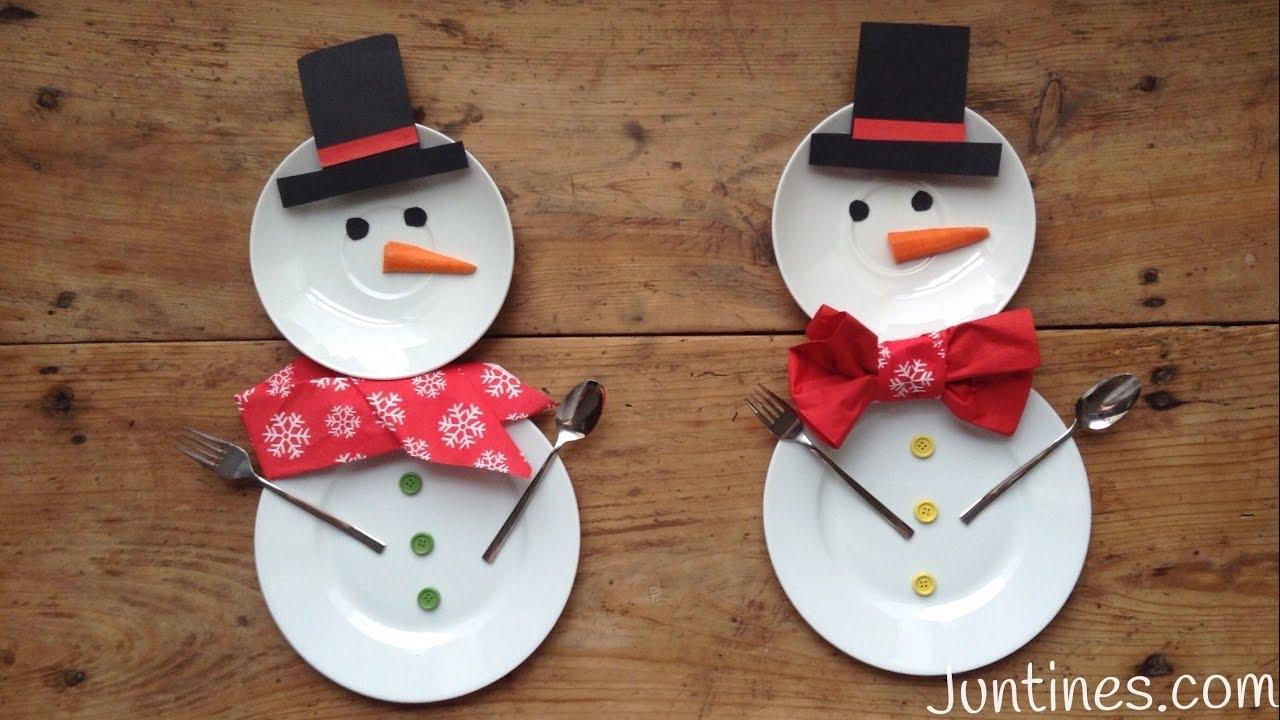 Mesa de NAVIDAD con muñecos de nieve | Decoraciones navideñas DIY
