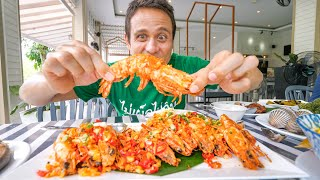 Giant FRIED GARLIC SHRIMP!!! Best Food From The DEEP Sea!