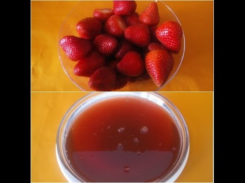 Video Strawberry Syrup for desserts and beverages(No High Fructose Corn Syrup) | Poonam's Kitchen