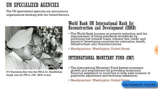 All About the International Organisation (UN)