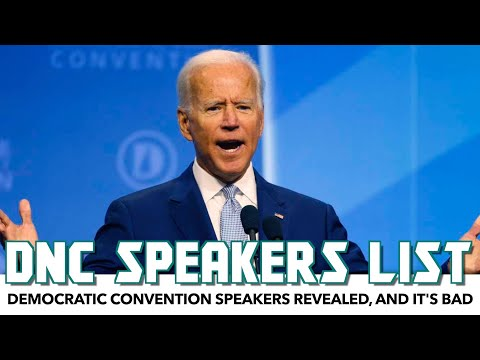 Democratic Convention Speakers Revealed, And It's As Bad As You Expect