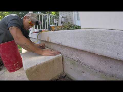 Fixing Sinking Concrete Steps with PolyLEVEL™ in Delaware.
