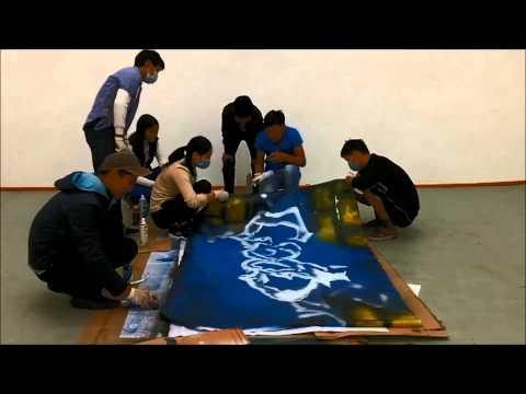 Zakhan Youth Development Centre Opening - Graffiti art time lapse
