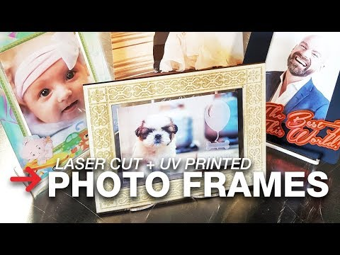 Laser Cut Photo Frames with ValueJet 426UF