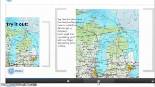 Michigan Maps and Compass Rose