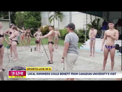 Jamaican swimmers could benefit from Canadian University's visit.