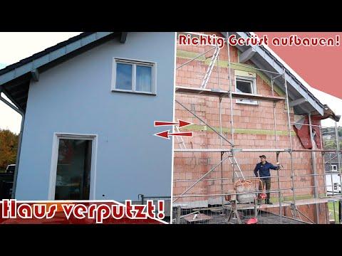 Richtig Gerüst aufbauen │ Haus verputzt!