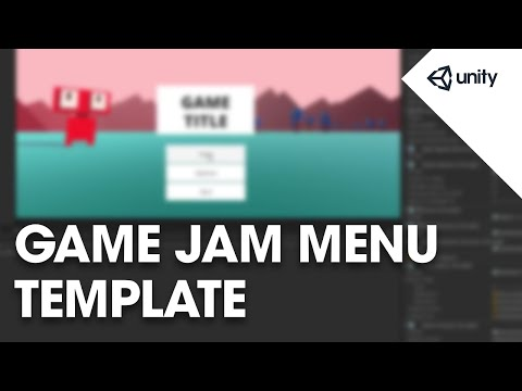 Game jam menu template - Unity