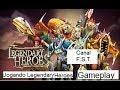 Jogando O Jogo Legendary Heroes Gameplay