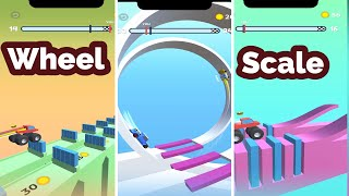 Wheel Scale Gameplay Levels 1 - 50 | Mobile Gaming.  (Android, iOS Game)