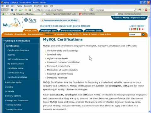 MySQL Certification Programs - YouTube
