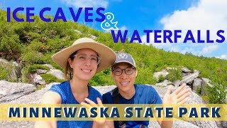HIKING NEAR NYC - Ellenville Fault Ice Caves & Verkeerderkill Waterfalls | Minnewaska State Park