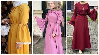Stylish Hijab Abayas Neck Sleeved Designs Collection 2020 Dubai Abaya Designs